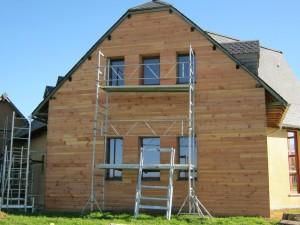 isolation laine de bois et bardage