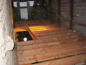 solivage douglas, chevêtre escalier