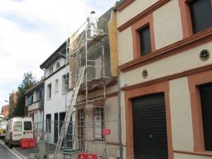 ossature bois, remplissage chaux chanvre murs et toit