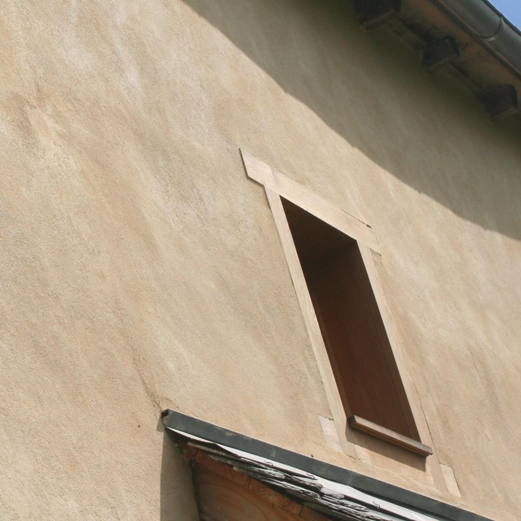 enduit exterieur chaux aerienne sur isolation chaux chanvre projetée renovation
